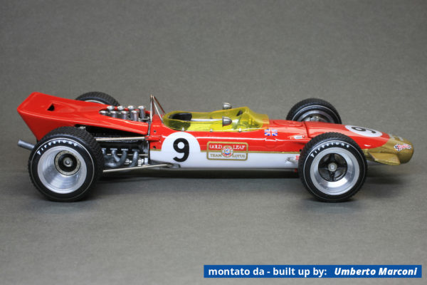 Tameo WCT068 Lotus 49B Ford - Monaco Grand Prix 1968 - White Metal Car Kit - Scale 1:43