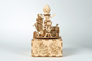 "Pinocchio Music Box 3D Puzzle #4 ""The Theater of Mangiafuoco"" - Laser cut wooden kit from Italy"