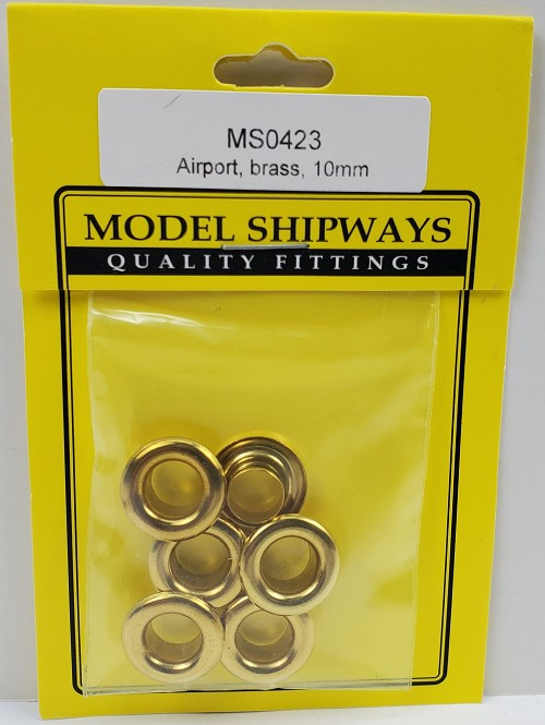 "Model Shipways Brass Airports 3/8"" (10mm)12 pack"