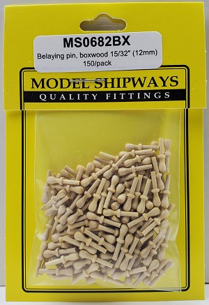 "Model Shipways Belaying Pins, Boxwood 15/32"" (12mm) 150 pack"