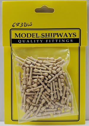 "Model Shipways Belaying Pins, Boxwood 9/16"" (14mm) 150 pack"