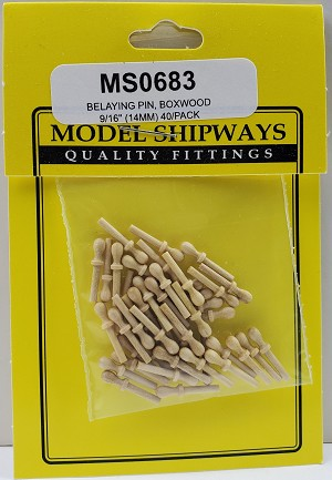 "Model Shipways Belaying Pins, Boxwood 9/16"" (14mm) 40 pack"