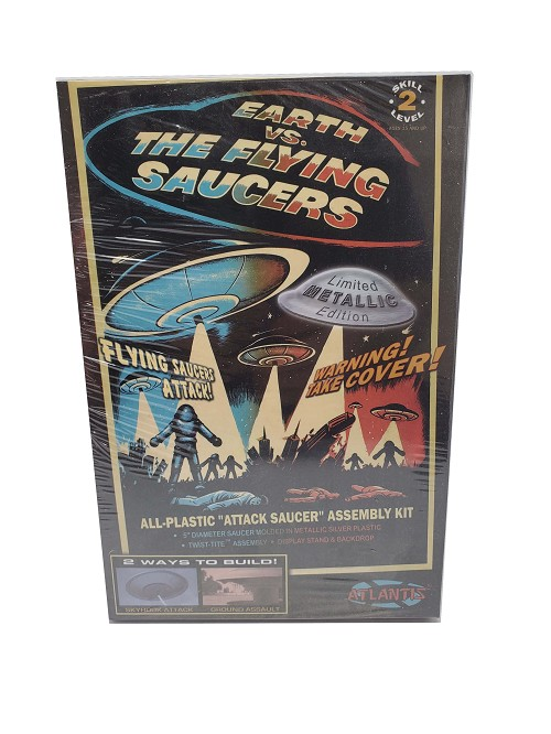 "Atlantis Models Earth Vs The Moon Flying Saucer UFO 5"" Inch"