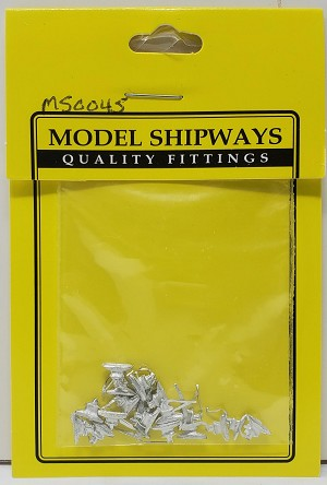 "Model Shipways CLEAT, Two Horned 3/16"" (8mm) with Pin 20 pack"