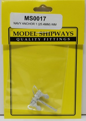 Model Shipways NAVY ANCHOR 1(25.4MM) WM