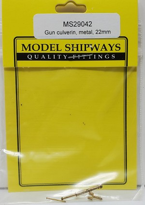 Model Shipways CULVERIN GUN, Cast Metal 22mm1pack