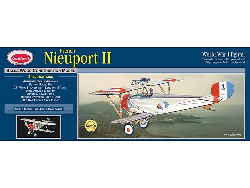 GUILLOWS Nieuport II Laser Cut 24""