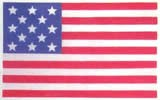 "Mantua Model 43881 Cloth U.S. Flag - 13 Stars & 13 Stripes - 45 x 75 MM (1.8 x 3.0"")"