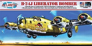 Atlantis Models B-24J Bomber Buffalo Bill with Swivel Stand 1/92 Scale