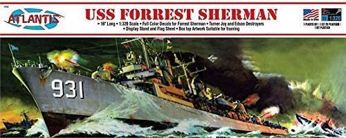 Atlantis Models USS Forrest Sherman Destroyer 1/320 Scale