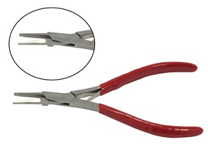 "SONA 714F 5"" Micro Flat Nose Plier, Dipped Handle, Pakistan"