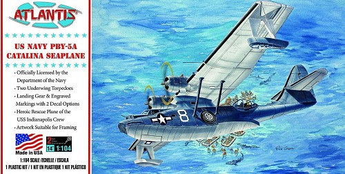 Atlantis Models PBY-5A US Navy Catalina Seaplane US Navy 1/104 Scale