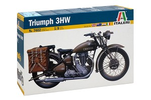 Italeri Triumph 3WH Motorcycle 1:9 Scale