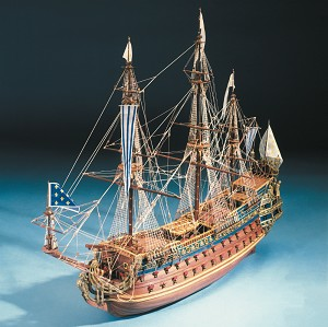 "Mantua Model 796 Soleil Royale - Scale 1:77 - Plank On Bulkhead Wood Ship Model Kit - Length 41"" (1030 mm)"
