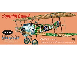 GUILLOWS Sopwith Camel Laser Cut 28""