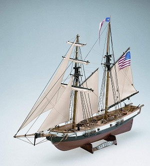 "Mamoli MV50 Newport - Wood Plank-On-Frame Ship Model Kit -  Length 520 mm (21""), Height: 350 mm (14"") Scale 1/57"