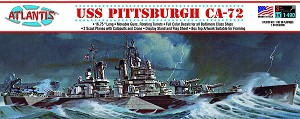 Atlantis Models USS Pittsburgh CA-72 Heavy Cruiser 1/490 Scale
