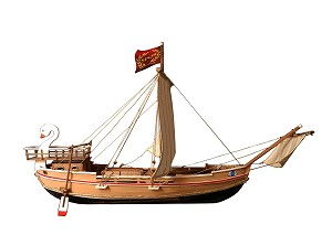 "CCV Modelli - NAVE ONERARIA ROMANA - Wood Plank-on-Frame Ship Model Kit - Length: 540mm (21""),  Scale 1:72"