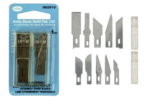 Testors 10-Pc. Assorted Hobby Knife Replacement Blades Set
