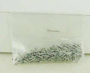 "MS2999B 1/4"" LONG (6.5mm) WHITE METAL BELAYING PIN - FOR SCALES 1:75 AND UP. 150+/pack"
