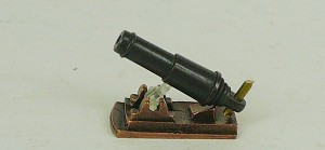 "C-5 Corel Carronade - 24mm (31/32"") Burnished and blackened cast metal w/ aiming mechanisms"