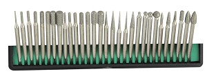 30-Pc. Diamond Burr Set, 180 Grit