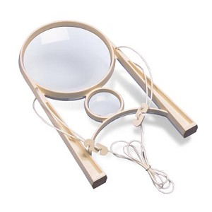 "DON-EZ-875 Hands Free Magnifier - Double Lens 4"" Utility and Small Inspection Lens"