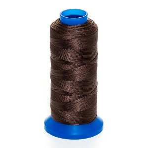 "Griffin Rigging Line @.08"" x 65yds (@2mm x 60m) Dark Brown Bead Cord Jewelry Nylon Spool"