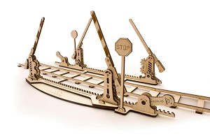 Ugears - Rails with Crossing- Laser Cut Wood - 200 Parts