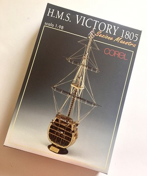 COREL SM24 VICTORY CROSS SECTION 1:98 SCALE - Wooden Ship Model Kit
