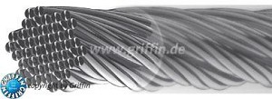 "Griffin Jewelry Wire - Thickness is 0.45 mm (.018"") -49 strands with nylon coating - Spool contains 30 ft."
