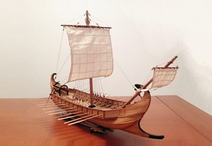 Maris Stella Liburnian Monoreme Mechant Ship of the Adriatic Coast 400 BC 1:63 Scale