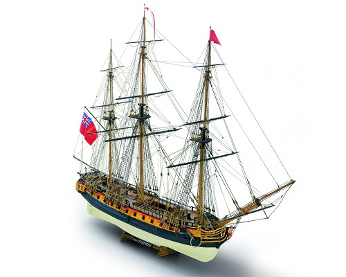 "Mamoli MV58 - Surprise - Wood Plank-On-Frame Ship Model Kit - Length: 844 mm (34""), Height: 627 mm (25"") Scale 1/75"