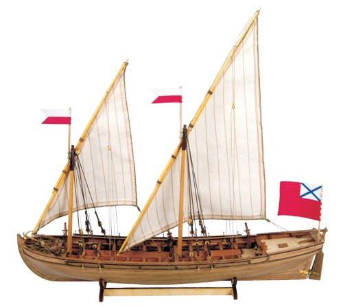 Master Korabel MK0201 Double Boat Wooden Kit 1:72 Scale