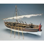 "Mantua Model 748 Armed Launch - Wooden Plank-On-Frame KitScale 1:1625"" Long"