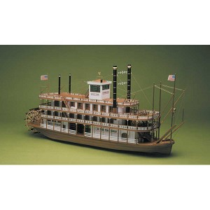 Mantua MA734 Mississippi River Steamboat Model Ship Kit -  1:50 Scale