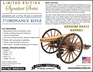 "GUNS OF HISTORY 3"" ORDNANCE RIFLE LIMITED EDITION Signature Series 1:16 SCALE"