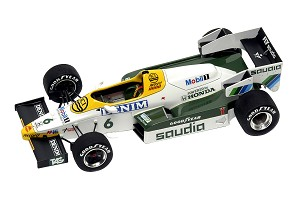 Tameo SLK032 Williams FW09 Honda - 1984 - White Metal Car Kit - Scale 1:43, Made in Italy