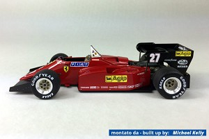 Tameo TMK420 Ferrari 126 C4-M2 - 1984 - White Metal Car Kit - Scale 1:43, Made in Italy