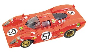 Tameo TMK031 Ferrari 312P 1970 - White Metal Car Kit - Scale 1:43, Made in Italy