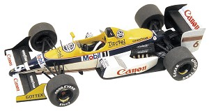 Tameo TMK071 Williams FW12 Judd 1988 - White Metal Car Kit - Scale 1:43, Made in Italy