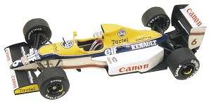 Tameo TMK113 Williams FW-13 Renault - 1989 - White Metal Car Kit - Scale 1:43, Made in Italy