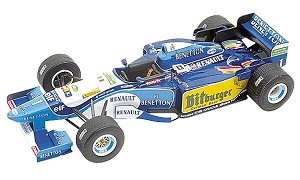 Tameo TMK206 Bennetton B-195 Renault - 1995 - White Metal Car Kit - Scale 1:43, Made in Italy