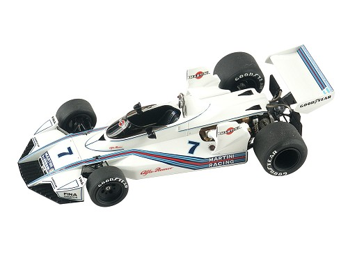 "Tameo TMK312 Brabham BT-45 Alfa Romeo ""Press Version"" - 1975 - White Metal Car Kit - Scale 1:43, Made in Italy"