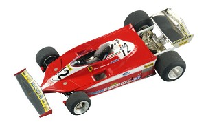 Tameo TMK335 Ferrari 312 T3 - 1978 - White Metal Car Kit - Scale 1:43, Made in Italy