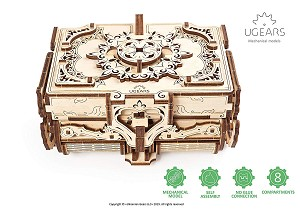 UGears Antique Box 3D Puzzle and Model Kit
