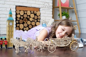 Ugears - Royal Carriage (Limited Edition)- Laser Cut Wood - 290 Parts