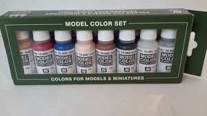Vallejo 7011 Set of 8 Paints for Civil War Guns of History and Figures