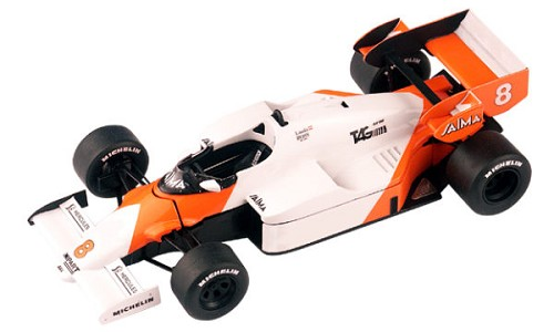 Tameo WCT084 McLaren MP4/2 TAG - 1984 British Grand Prix - White Metal Car Kit - Scale 1:43, Made in Italy