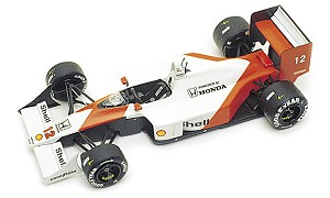 Tameo WCT089 McLaren MP4/4 Honda - 1988 Japanese Grand Prix - White Metal Car Kit - Scale 1:43, Made in Italy